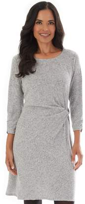 Apt. 9 Petite Twisted-Waist Sweater Dress