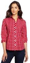 Women's Windowpane Check Printed Shirt