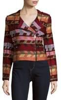 Maje Notch Collar Woven Jacket