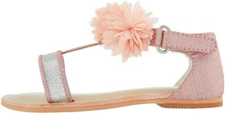 Monsoon Baby Girls Cleo Corsage Walker Sandals - Pale Pink