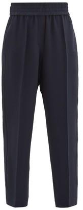 Brunello Cucinelli Elasticated-waist Crepe Trousers - Navy