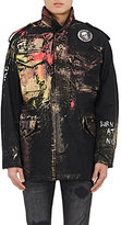 Alpha Industries Men's M-65 Hand-Painted Cotton-Blend Field Jacket