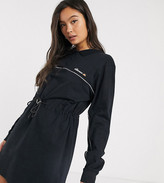 Ellesse utility dress with drawcord waist and reflective piping