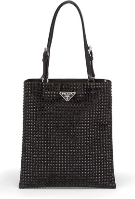 Prada Crystal Embellished Crossbody Bag
