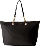Calvin Klein Large Chain Nylon Tote Tote Handbags