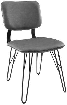 Walker Edison Midcentury Flex Back Accent Dining Chair With Black Stitching, Set of 2