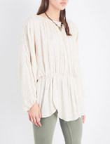 Free People Little Shine embellished metallic tunic