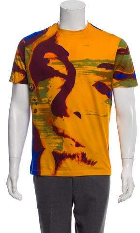 Versace Abstract Crew Neck T-Shirt