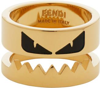 Fendi Gold Bag Bugs Ring