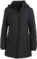 Weatherproof Women's Non-Denim Casual Jackets BLACK - Black Walker Diamond-Quilted Hooded Jacket - Women & Plus