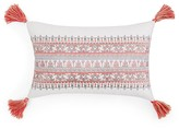 "Sky Calista Embroidered Tassel Decorative Pillow, 12"" x 22"""