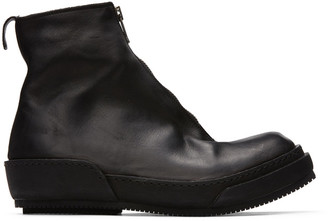 Guidi Black Horse Front Zip Boots