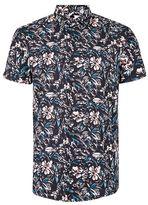 Topman Multicoloured Jungle Print Short Sleeve Casual Shirt