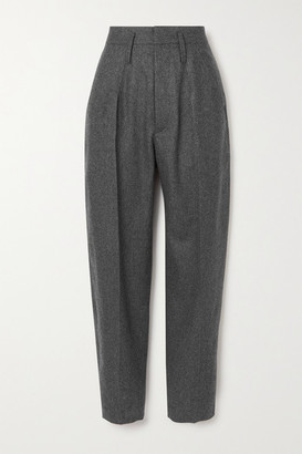 Isabel Marant Racomisl Pleated Wool Tapered Pants - Anthracite