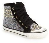 Ash Girl's 'Lita Monroe' Studded Glitter High Top Sneaker