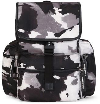 Dolce & Gabbana Kids Camouflage Backpack
