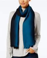 Calvin Klein Dip Dye Logo Wrap & Scarf in One