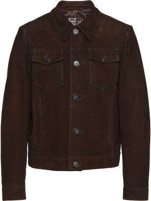 Prada Collared Suede Jacket
