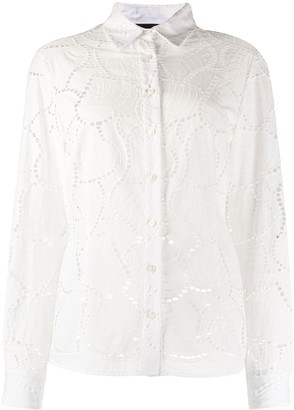 Talbot Runhof Ivy Leaves Fitted Blouse