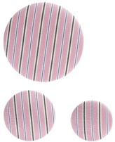 Balenciaga Set of 3 striped earrings