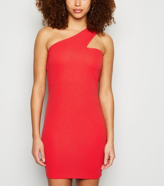 New Look AX Paris One Shoulder Bodycon Dress