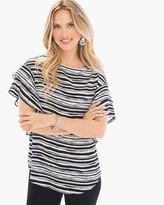 Chico's Wavy Striped Flutter-Sleeve Top