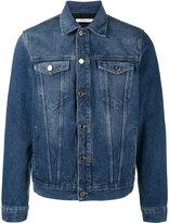 Givenchy logo print denim jacket - men - Cotton/Polyester - M