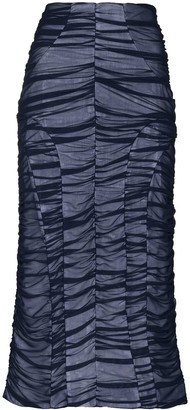 Richard Malone Ruched-Detailing Midi Skirt