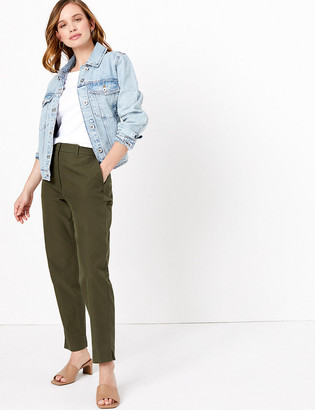 Marks and Spencer PETITE Cotton Ankle Grazer Chinos