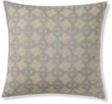 Jacquard Cashmere Chain Links Pillow Cover, Light Gray