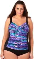 Croft & Barrow Plus Size Bust Minimizer Twist-Front One-Piece Swimsuit