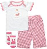 Elegant Baby 3 Piece Fashion Set (Baby) - Raspberry-6 Months