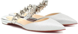 Christian Louboutin Planet Choc metallic leather slippers