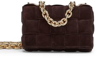 Bottega Veneta Cassette Suede Chain Crossbody Bag