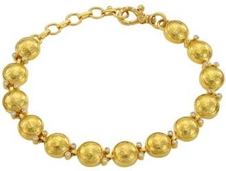 Gurhan Amulet Diamond, 22K & 24K Yellow Gold Beaded Bracelet