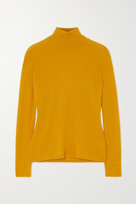 Gabriela Hearst Costa Cashmere And Silk-blend Turtleneck Sweater - Saffron