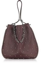 Alexander Wang Roxy Ball Stud Beet Leather Hobo Bag