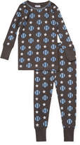 Baby Steps Baseball Cotton Sweater & Pants - Grey, Size m-6