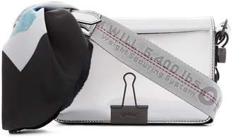 Off-White metallic Mirror mini patent leather shoulder bag