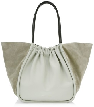 Proenza Schouler Extra-Large Ruched Leather & Suede Tote