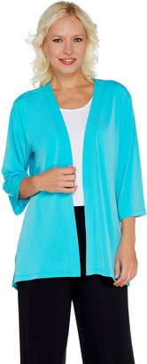 Susan Graver Liquid Knit 3/4 Sleeve Cardigan