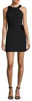 Halston Crepe 3D Pallette Placement Sheath Dress