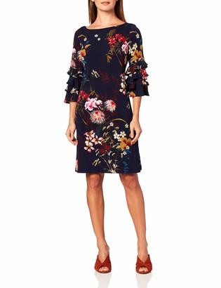 Gabby Skye Women's 3/4 Tiered Bell Sleeve A-Line Knee Length Dress