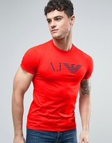 Armani Jeans Eagle Logo T-Shirt Slim Fit in Red