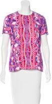 Peter Pilotto Printed Short Sleeve Top