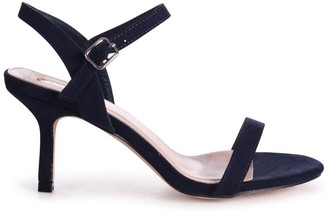 Linzi LILA - Navy Suede Small Barely There Heeled Sandal