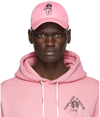 Palm Angels Pink Embroidered Graphic Cap
