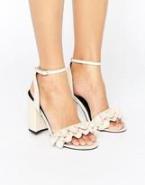 Miss Selfridge Ruffle Heeled Sandal
