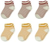 BabiBean Baby Girls' Six Pack Low Cut Socks Colors May Vary