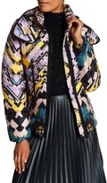 Desigual Double Stand Up Collar Bubble Coat